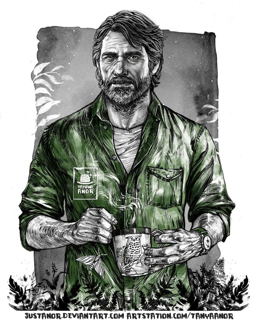 #FanArtFriday: Joel from #TheLastofUsPartII by Tanya Anor.  Share your own fan art, cosplay, and more here: https://t.co/rkNPoi2lDv https://t.co/G3hlhCposm