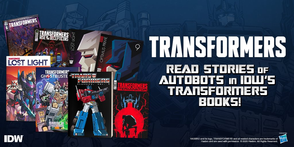 Read and roll out with IDW's Transformers books! Check out the Transformers comics and graphic novels on our site! https://t.co/VovomLfzp5 https://t.co/oelXVsPpwg