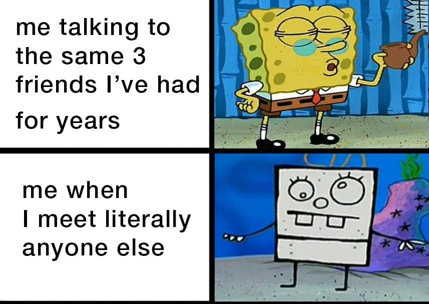 Follow for more spongebob related memes @squiddybottom - Tags:  #memes4days #memesfunny #dailymemes #memepage #funny #memestagram #memedaily #meme #memes #bestmemes #dankmemes #funny #funnymemes #lol #lmao #memeoftheday #relatable #spongebobmemes #hilariousmemes #dankmemes …pic.twitter.com/Jf4AqMKwGJ