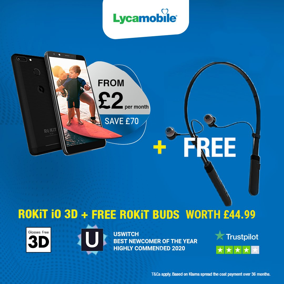 An amazing offer from of our friends at Lyca! The IO 3D + Free ROKiT Buds from just £2 a month!! A no-brainer particularly for those with friends and family abroad.  Visithttps://t.co/4fTNiCe7Aq #keeptalking #ROKiTPhonesUK #3Dsmartphones #Lyca https://t.co/H46k23cUfc