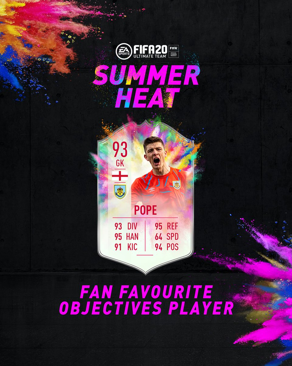 Two #FUT20 Fan Favourites return. #SummerHeat☀️🔥 Nick Pope and Kevin Mbabu Player Objectives are here. #FUT20
