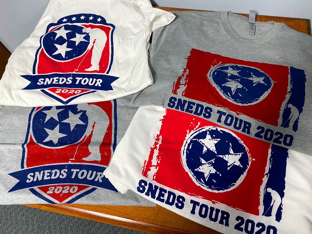 🔥🔥🔥  Who wants one of these hot Sneds Tour t-shirts?!?  We've got some to give away this weekend to celebrate the holiday 🎇🇺🇸  To enter to win one:  🔸 Retweet this post with the hashtag #SnedsTour2020  🔸 Follow @tgfjuniorgolf and @TNGolfFnd on Twitter https://t.co/VGIx48N9Cf
