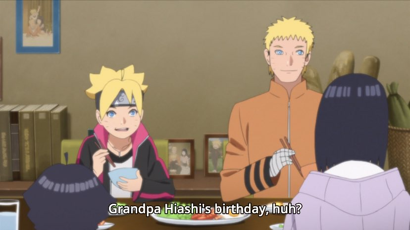 Underrated moment of Boruto:  Hinata exposing Naruto after he scolded Boruto.  Also the way he is looking and smiling at her in the first pics. ♡ pic.twitter.com/BKu7HlFDjX  by Clara 🌊