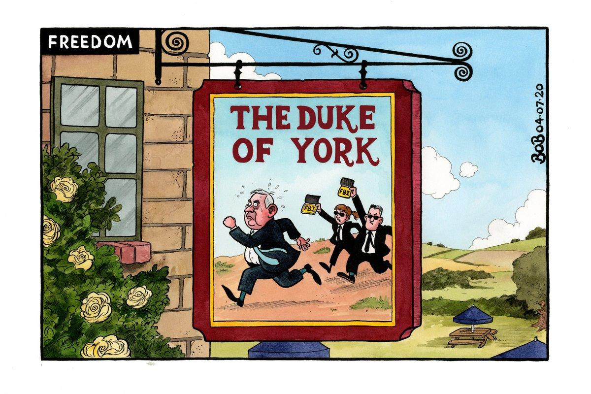 .@Telegraph cartoon #SuperSaturday #pubs #DukeofYork #JeffreyEpstein  Originals:  http:// bobmoran.co.uk     Prints:  http:// telegraph.co.uk/bobprints    <br>http://pic.twitter.com/S3Ya8UbjMg