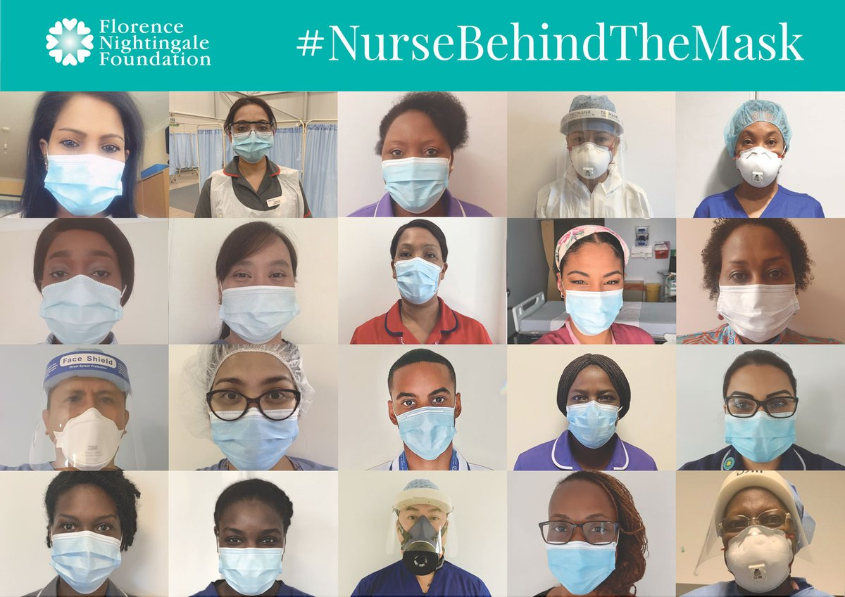 For the #NHSBirthday on 5 July, @FNightingaleF would like BAME nurses and midwives to share a selfie wearing a mask, and for non-BAME allies to show solidarity by doing the same. Read more ➡️ florence-nightingale-foundation.org.uk/the-nurse-behi… #NurseBehindTheMask #MidwifeBehindTheMask