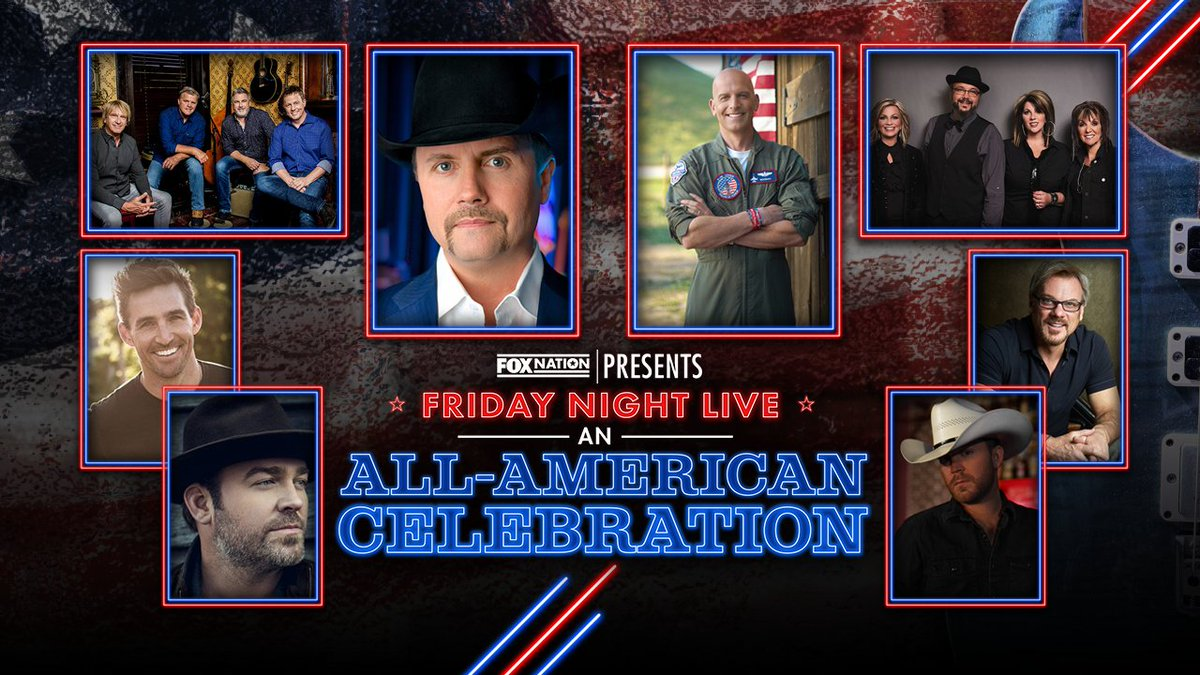 TONIGHT: @johnrich is headlining Fox Nation's All-American Celebration alongside @FoldsofHonor's @LtColDanRooney & a few special guests starting at 5p ET! Don't miss it! https://t.co/UQtteNd0Cu