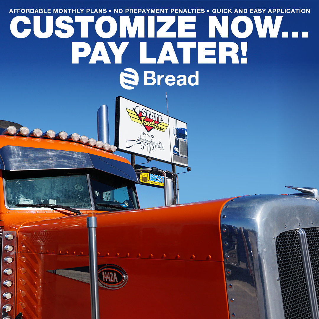Summer events take time & money, so customize your truck NOW & PAY LATER! Click here for more information & get your rate today! https://4statetrucks.com/info/bread-financing.asp…  #4StateTrucks #ChromeShopMafia #chrome #chromeshop #customtrucks #semitrucks #trucking #customrig #bigrig #largecar #truckerspic.twitter.com/9fYSPSb8xu