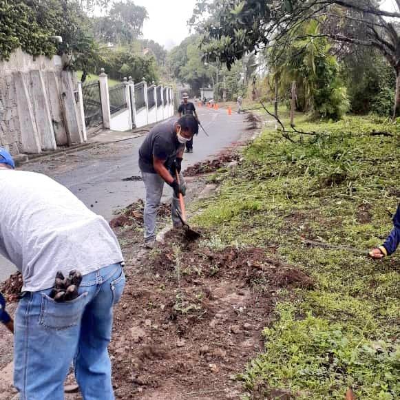 Las aceras de nuestro municipio #ElHatillo están resucitando!   Nuestro Plan #CuidemosElHatillo se encuentra en la Av. Sur de #LaLagunita con la Calle C1 realizando la recuperación integral de esta vía. #LoHacemosPosible https://t.co/VFYIS59t8W