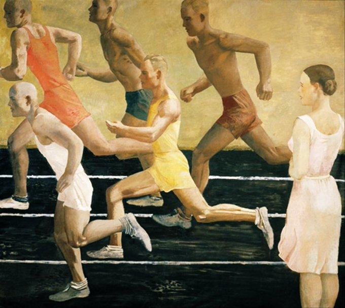 Aleksandr Deineka, Runners (1934) almost-there.co.uk/unknown-pleasu… via @olgatuleninova #art #AlmostThere