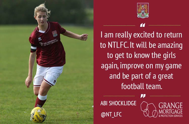 🚨We are delighted to announce the signing of Abi Shocklidge. @abishocklidge becomes the 2nd former @NT_LFC captain to return after Eden Browns return earlier this year. Abi has been playing her football with the University of Cardiff 1st team in recent years. Welcome Abi!