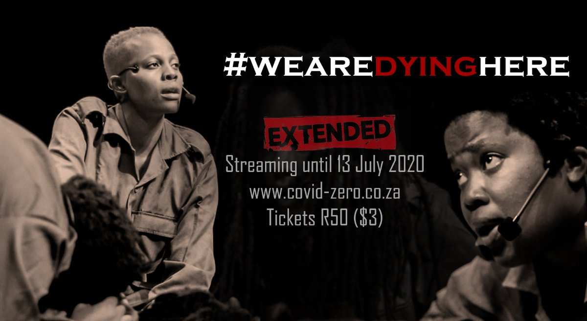 Apparently, some people were not yet ready to let go. And, honestly, neither are we 🥺   STREAMING EXTENDED FOR 7 DAYS!  So, for the next week and a bit, can we make some extra noise? Let's make sure everyone knows about #WEAREDYINGHERE ✊🏾  cc @zozitunzi   https://t.co/JgDZac3zve https://t.co/KrnFSUwZw4