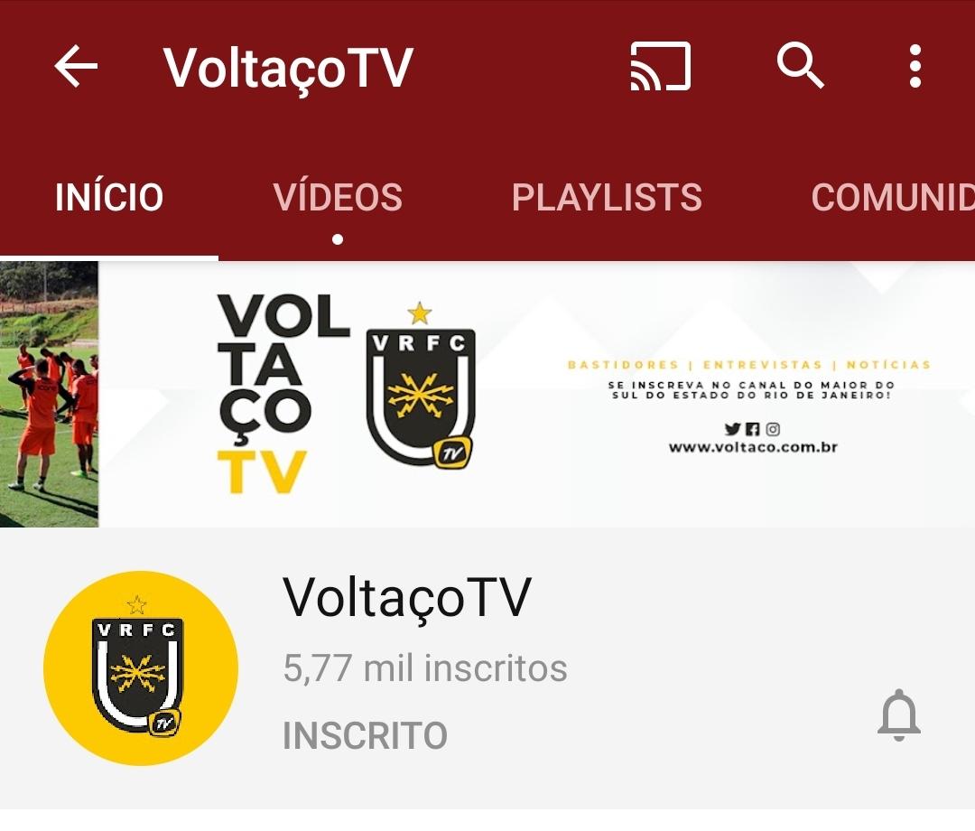 Número da VoltaçoTV, canal oficial do Volta Redonda, depois da partida contra o Resende: - Tinha um pouco mais de 2.000 inscritos e pulou para 5.770; - Mesmo sem imagens, o jogo registrou 104 mil visualizações, número muito expressivo para clube de menor investimento; #ODia