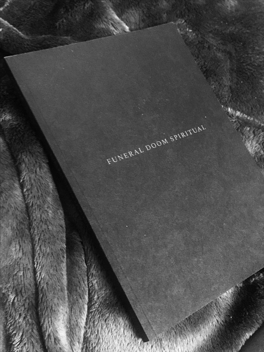 My 2016 limited edition book Funeral Doom Spiritual has ten copies left. Its a very intimate presentation of the libretto with images and an exclusive essay by Hunter Hunt-Hendrix @LITVRGY On Mourning. mlamar.bandcamp.com/merch/funeral-…