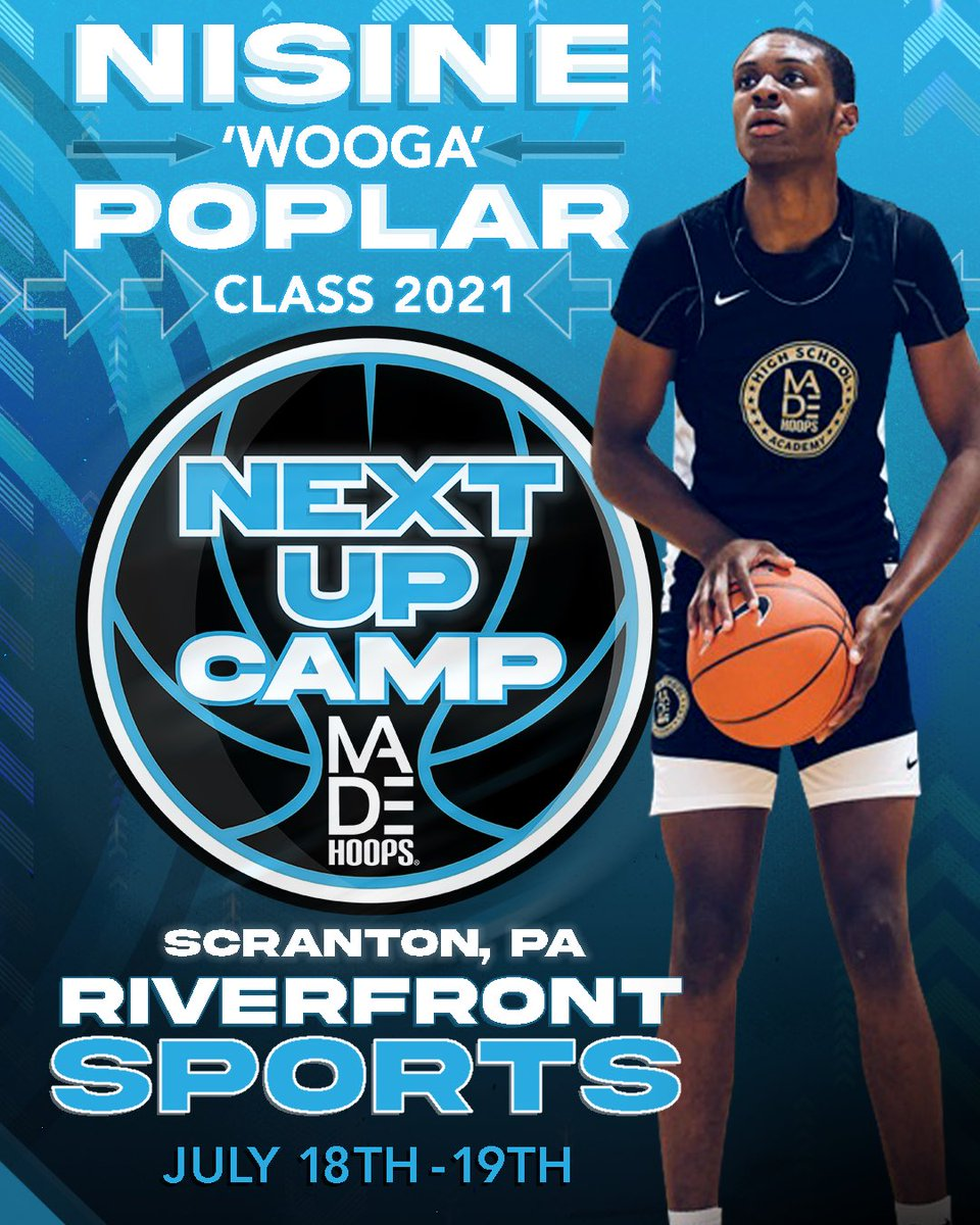 🔥 2021 G Nisine 'Wooga' Poplar is one of the hottest names in the country in his class. He's NEXT UP!  🗓: July 11th-12th, 18th-19th, & 25th-26th ⛹️‍: Classes 2021-2026 🏟: Riverfront Sports 📍: Scranton, PA 🎥: Live Streamed  Registration: https://t.co/Pwy8j4Nvqa https://t.co/Ho5i7tXG2u