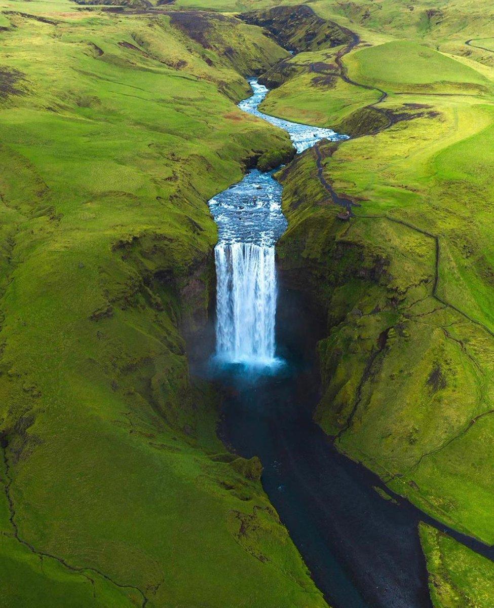 amazing #greenary with a cute #waterfall. via: hordur  #iceland <br>http://pic.twitter.com/k0kkjtRm3U