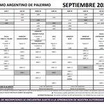 Image for the Tweet beginning: Adelanto SEPTIEMBRE 2020 del Hipódromo