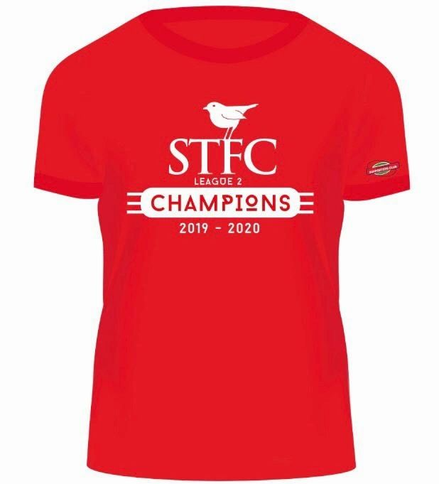 🚨ON THIER WAY TO YOU!🚨  The first batch of CHAMPIONS t-shirts have been dispatched.  We'd love to see your photos of you wearing them, celebrating @RichieWe11ens and @Official_STFC success!  https://t.co/Y9DtXDiA21  #COYR #CHAMPIONS #WEAREGOINGUP 🍾🏆🔴⚪ https://t.co/mgVbt8QZkL