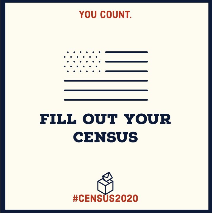Filling out your Census form is the first step toward making a difference in our community over the next decade. Make sure your household is counted! Respond at https://t.co/bvr5z9zMYS. https://t.co/tt6nqJq3Pv