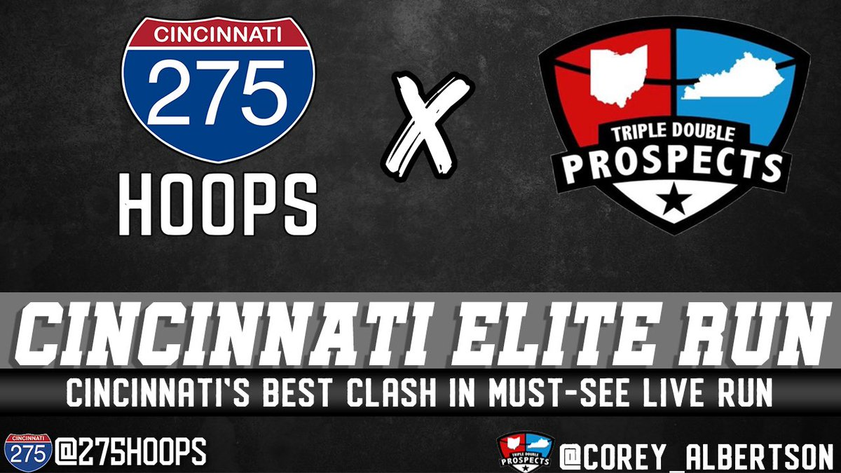 Headed down to Cincy for this open run! Can't wait to see what @275Hoops and @Corey_Albertson have in store tonight.  Watch it here, starting at 6: https://t.co/fsKfRFhYjS https://t.co/Yjovk64vMT
