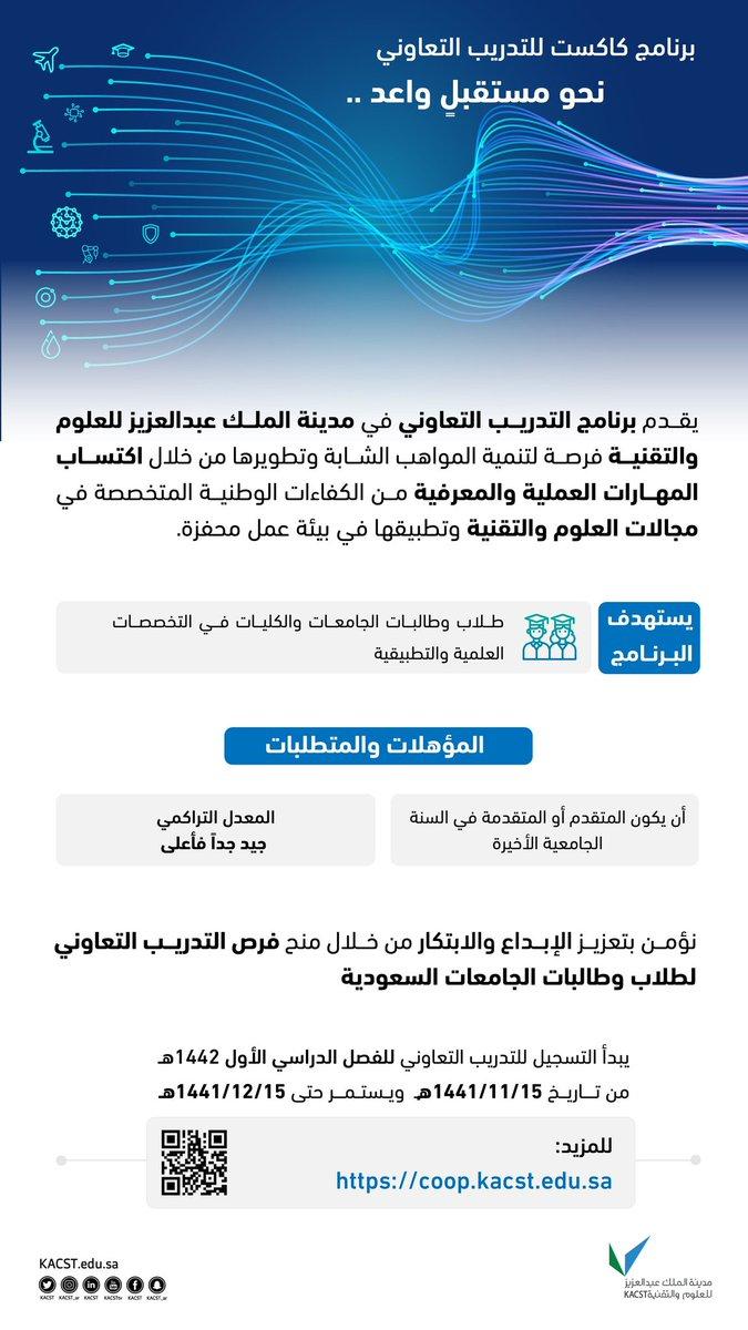 برنامج التدريب التعاوني في مدينة الملك عبدالعزيز للعلوم والتقنية