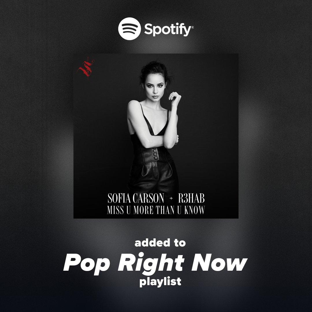 thank you I love you @Spotify #missumorethanuknow http://hollywoodrecs.co/PopRightNowpic.twitter.com/Yzt524kTRX