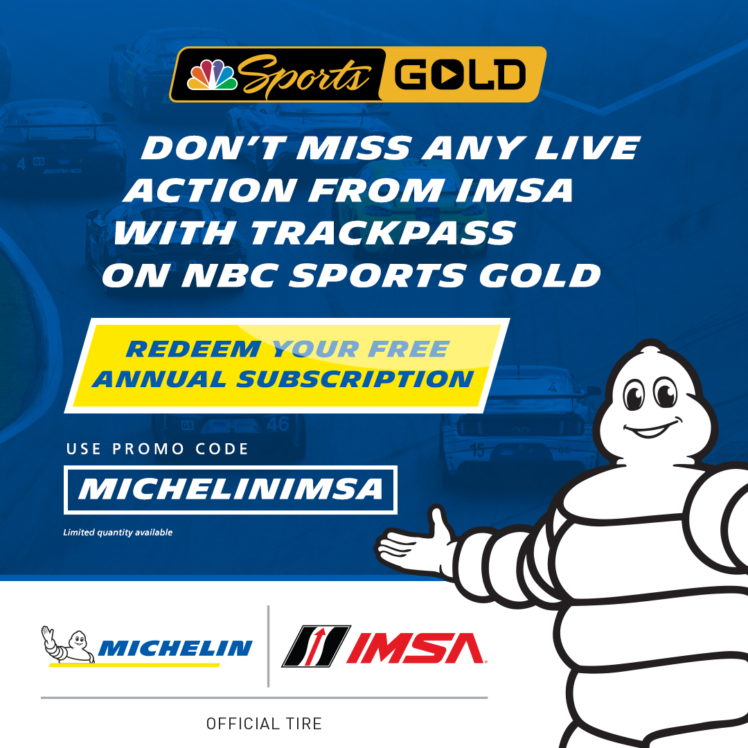 Wow!  A great offer especially for all of the #RaceforRP fans who want to follow the #IMSA @MichelinRaceUSA Pilot Challenge races live!    Thank you, @MichelinUSA and @IMSA!