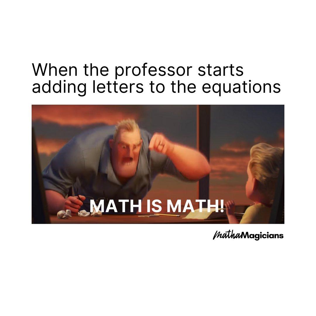 Let's not confuse the two #memeoftheday #mathmeme #algebrameme #schoolmeme #mathematicspic.twitter.com/IGzUUjZRfc