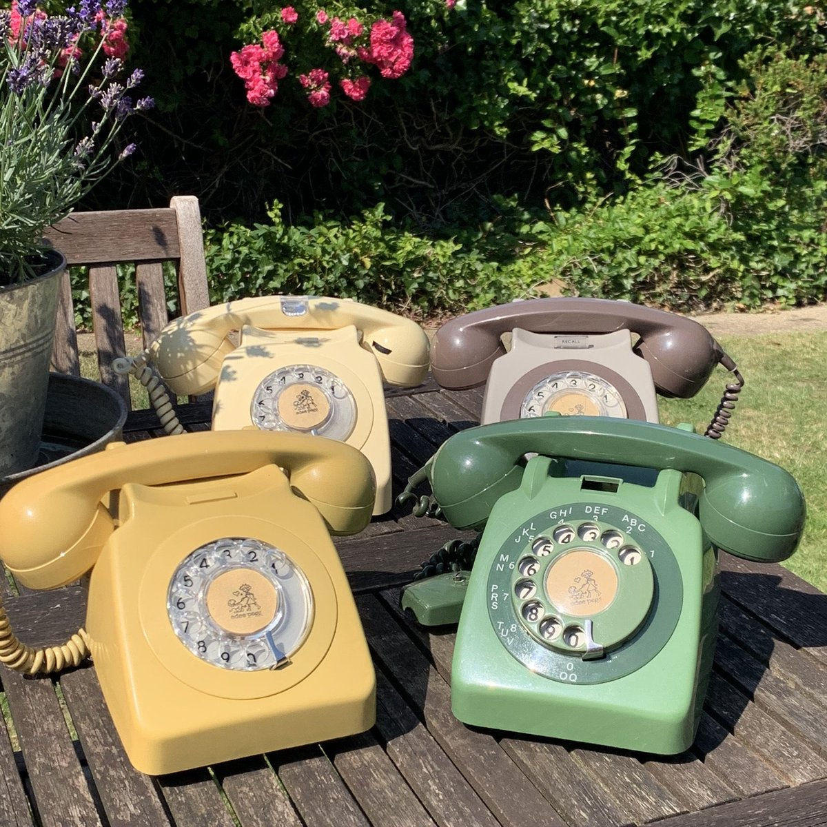 Excited to share this item from my #etsy shop: Vintage Telephones 1970s Grey Cream Yellow and Green Dial Phones https://etsy.me/2YY0wEgpic.twitter.com/RUBvOxHfWN  by Edie Pegg