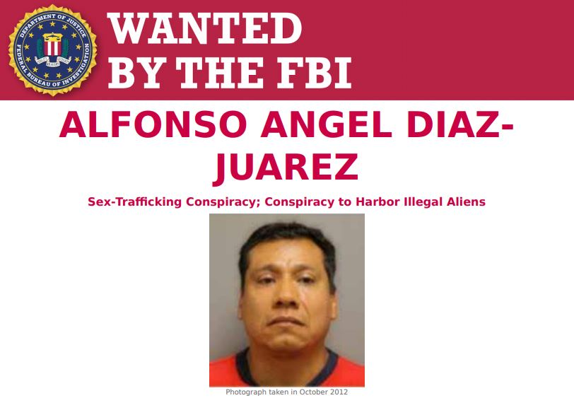 The #FBI is offering a $50,000 reward for information leading to the arrest of Alfonso Angel Diaz-Juarez, an alleged international sex trafficking fugitive. Submit a tip to https://t.co/iL7sD5efWD or the nearest U.S. Embassy or Consulate. #FugitiveFriday https://t.co/j0L5L1wSaR https://t.co/DHlakAtgQQ
