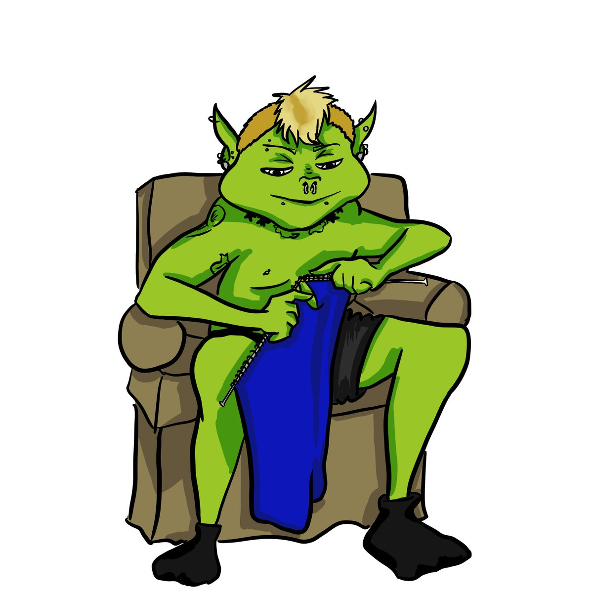 This is what I think I must look like when I'm knitting in the middle of the night to wind down #art #illustration #digitalart #Goblin #knitting #draw #drawing #visualart #DigitalArtist #digitalartwork #digitalillustrationpic.twitter.com/vyY7BzF67n