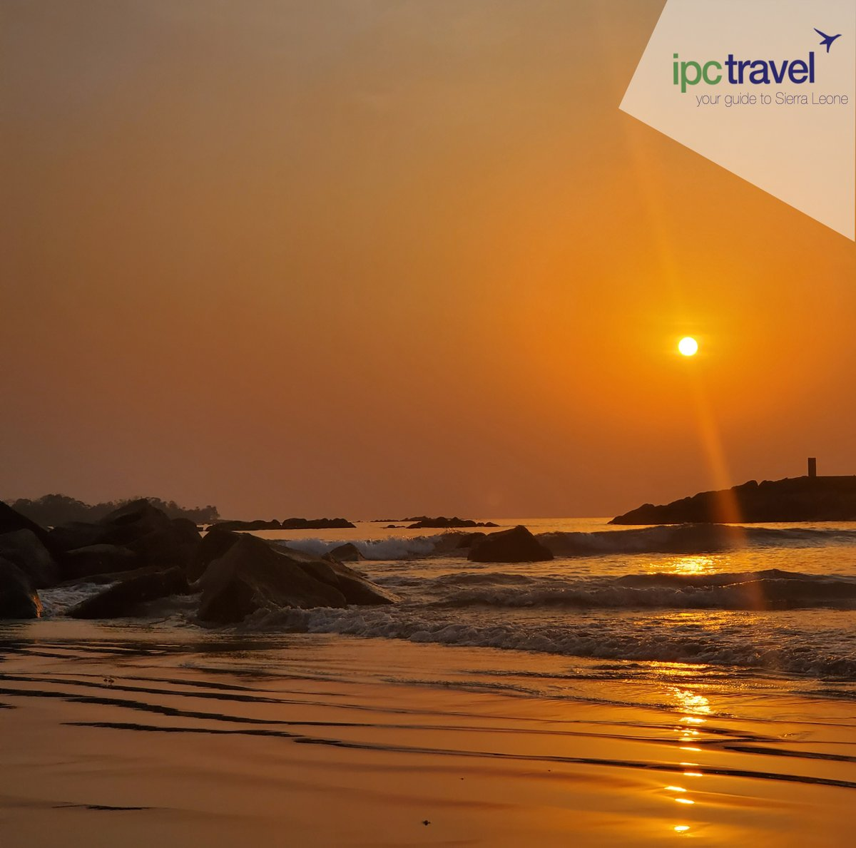 We send you positive vibes this weekend. What is more refreshing than crashing waves on the rocks, sand on your toes and mesmerizing sunsets?  #ipctravel agency#yourguidetosierraleone #sierraleone #beach #sunsandsea #sunset #sunsetvibes #happyweekend #sunsetviews #salonetwitter https://t.co/go0wFYhHFn