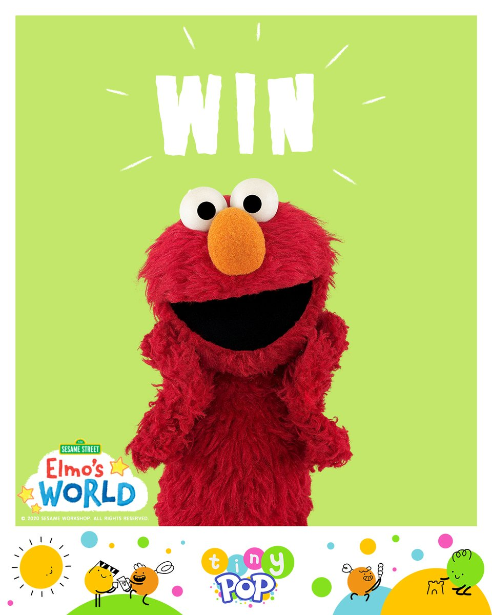 Immerse yourselves into Elmo's World with ALL NEW episodes!    For you chance to #WIN some awesome Elmo prizes, follow us at @tinypoptv and retweet this post with a !<br>http://pic.twitter.com/bijffX6I0C