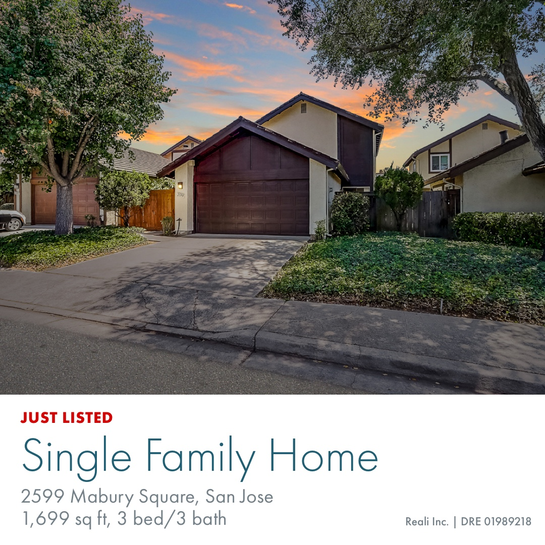 Just Listed! Come see this rarely available, hidden gem of a home in North San Jose. 3 Bed, Bath, detached single-family home..list price $899,000. See it virtually: https://buff.ly/2NSqbrN Schedule a private tour: https://buff.ly/2YWm0Sd @realiapp #realiapp #bayarearealestate pic.twitter.com/8lwqsiOv7g