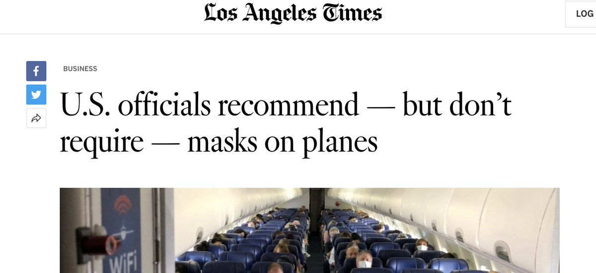so, no masks required on airplanes but $500 fine if i step out of my house not wearing one?  i wear a mask, i think everyone should, but how the fk are we supposed to know what to do when all we hear is contradictory information and policies??? https://t.co/zVgEH01T1C