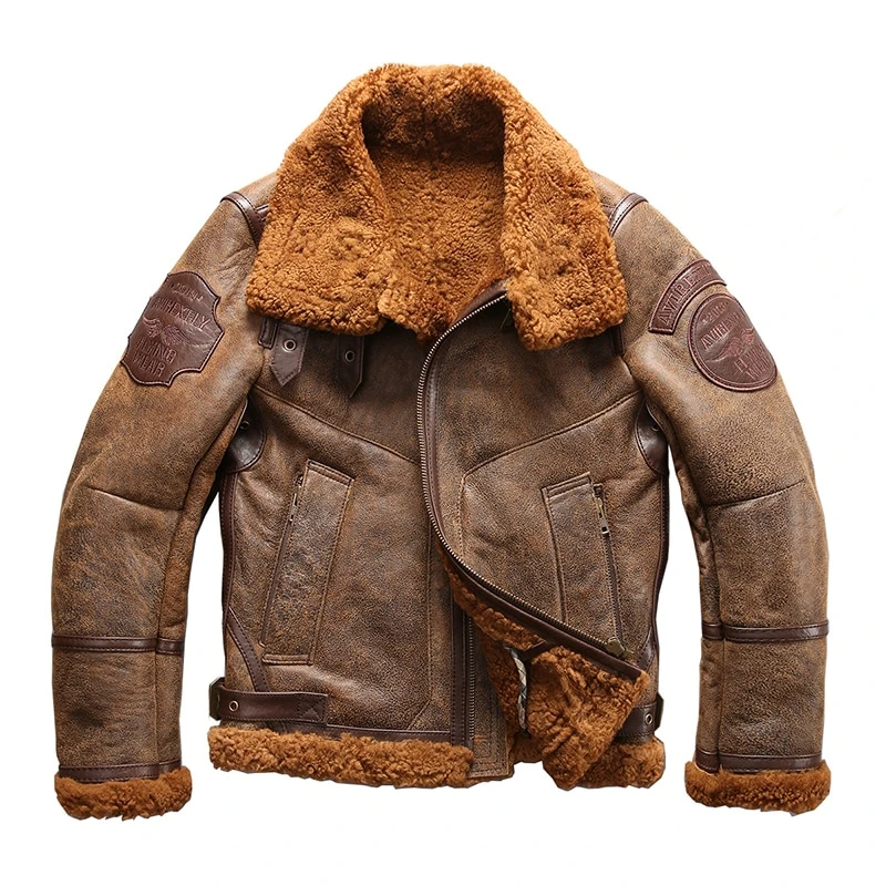 high quality super warm genuine sheep leather jacket men's big size B3 shearling bomber military fur jacket  #jacket #B3 #leather   https://moonaro.net/collections/men-leather-jacket/products/high-quality-super-warm-genuine-sheep-leather-jacket-mens-big-size-b3-shearling-bomber-military-fur-jacket …pic.twitter.com/B3y9OcfvsO