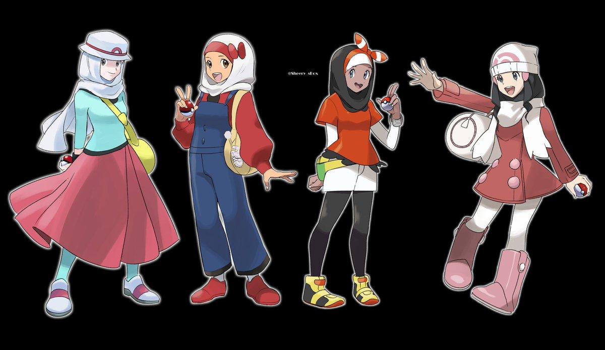 Pokemon girls protag as hijabis ! #pokemon