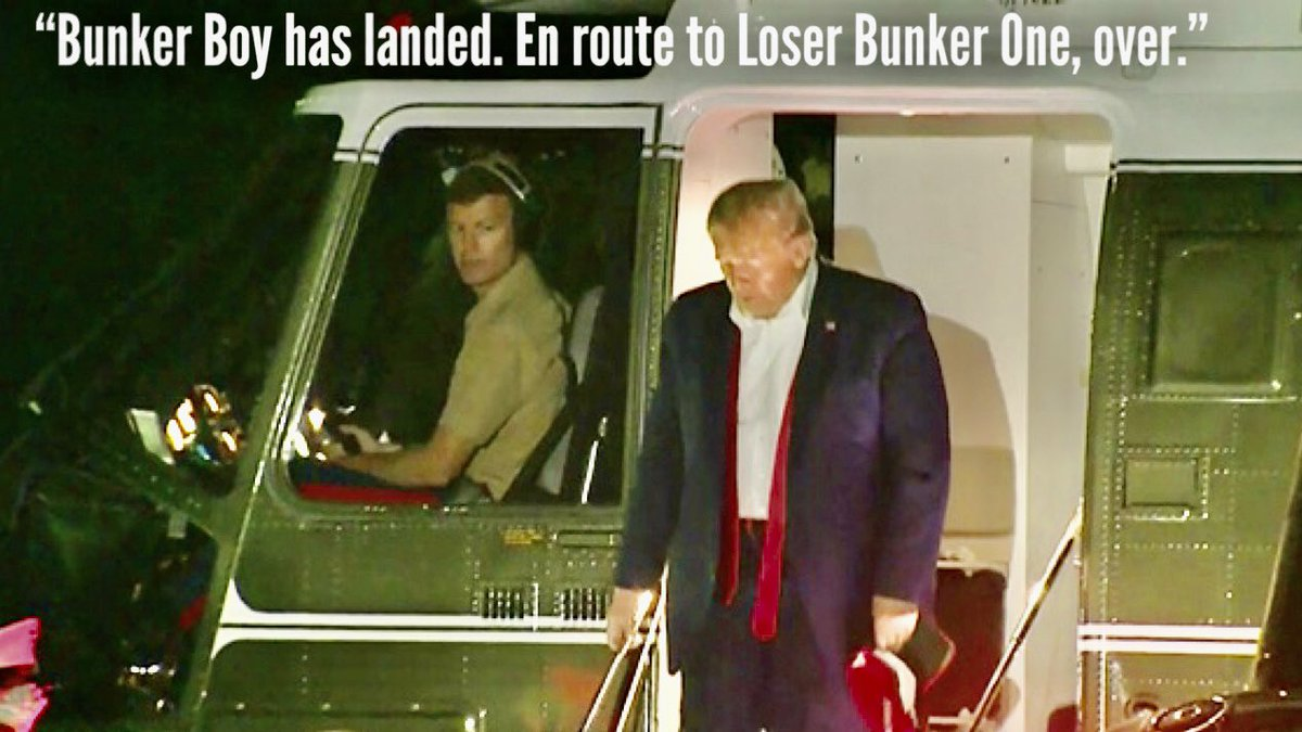 From Cadet Bonespurs  To Bunker Don   To #BenedictDonald   There's no shelter for traitors.<br>http://pic.twitter.com/6I4BeaFC5q