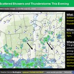 Image for the Tweet beginning: Scattered rain showers and thunderstorms