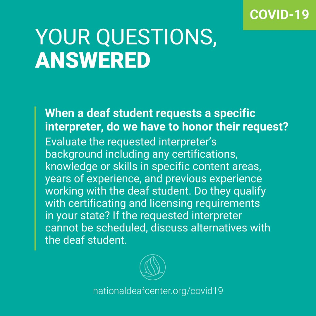 There are ways to support deaf students' requests for interpreters to ensure the most effective communication access. For tips, read: https://t.co/03yEEqPmf4 https://t.co/JHiReBNyYh