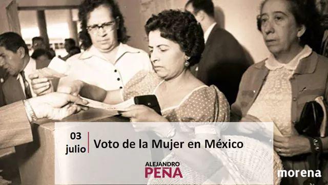 #LaHistoriaNoSobra  Hace 65 años, las mujeres votaron por primera vez.  Hoy quiero reconocer a todas aquellas que hicieron esto posible, sin la participación política de todas y todos, la democracia mexicana no sería posible.  #JuntasYJuntosSeguiremosHaciendoHistoria https://t.co/z9QNE7iZUq