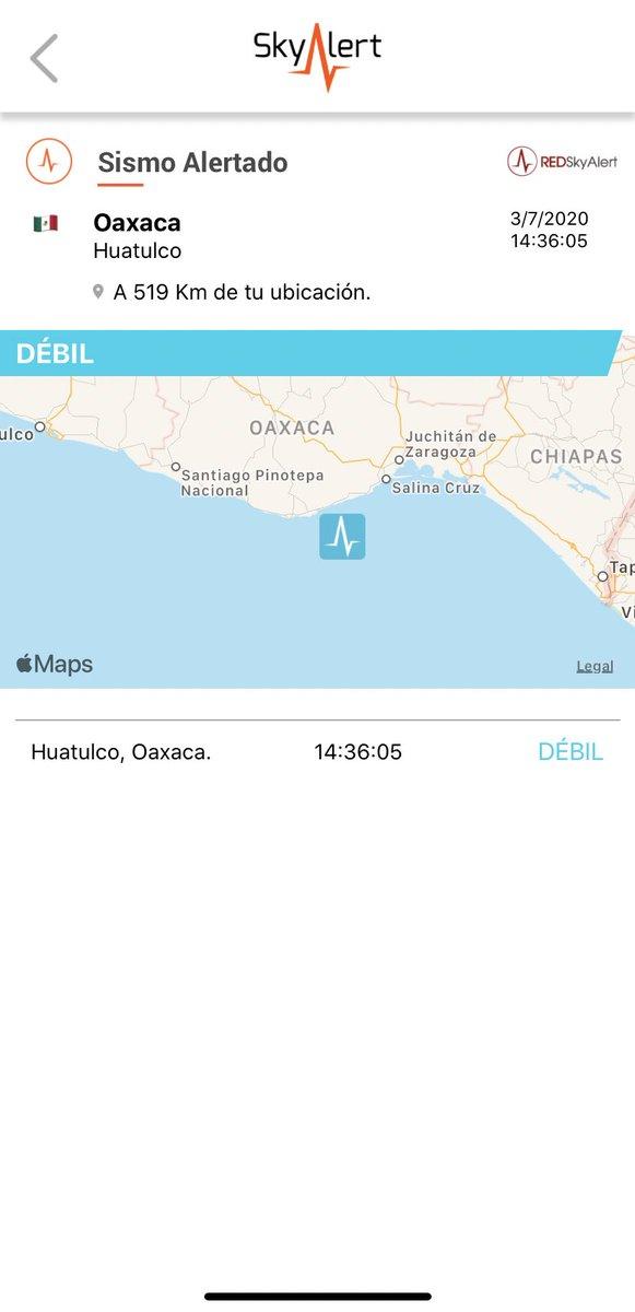 Se detectó sismo de intensidad «débil» en Huatulco, Oaxaca.  Percibido únicamente en la zona próxima al epicentro. Réplica del sismo de 23 de junio de M7.4. https://t.co/LKiJzS6vfH