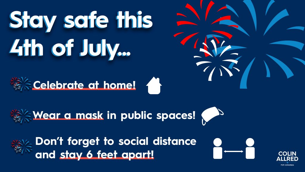 This Independence Day, let's make sure we are celebrating safely. Together we can beat this virus and save lives. #MaskUpTexas https://t.co/IjU4FdFMd1
