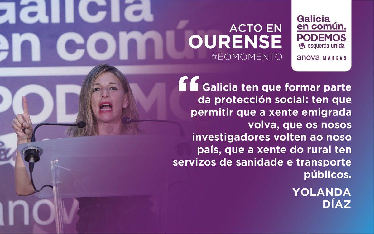 🗯 A Ministra de Traballo, @Yolanda_Diaz_ , deixa claro que o cambio debe pasar pola defensa dos dereitos sociais, do emprego de calidade no país e dos servizos públicos!