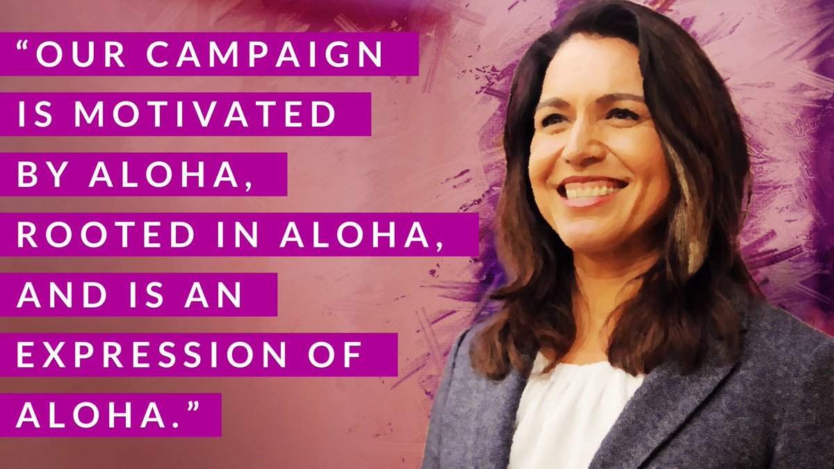 The power of Aloha ~ @TulsiGabbard ~ #Tulsi2024 ~<br>http://pic.twitter.com/ych9hkjHpD