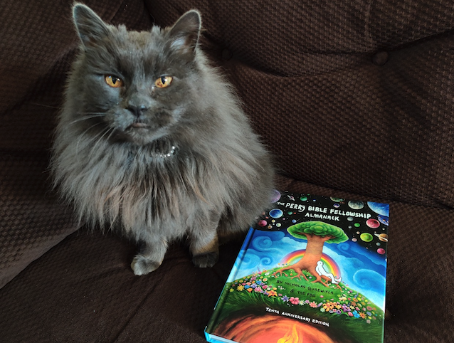Arm yourself with the Chaos Grid and take an absurdly comical journey with Fun Bot, Lord Zuthulu, and Shitashi the Wise! A meowsterful reading recommendation for The Perry Bible Fellowship 10th Anniversary Edition. Details: https://t.co/DHgfQr7j6K @PerryFellow https://t.co/0GO0uUbxPS