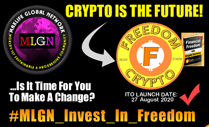 Hi there, #MLGN_INVEST_IN_FREEDOM we all know that Crypto is the Future and here at MLGN we have our very own, it's called FREEDOMCRYPTO.   ITO launch date: 27 August 2020. It's part of our 'Alternative Future' program and sustainability approach. Come join us,  get free crypto! pic.twitter.com/wjJcO0qXCa