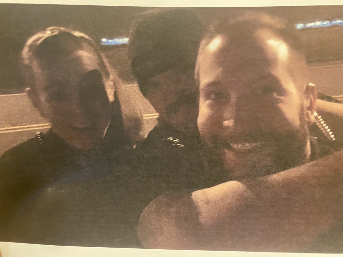 #Breaking: Photo of selfie taken by @AuroraPD officers near site of #ElijahMcClain memorial. https://t.co/VZbOWQjvhf