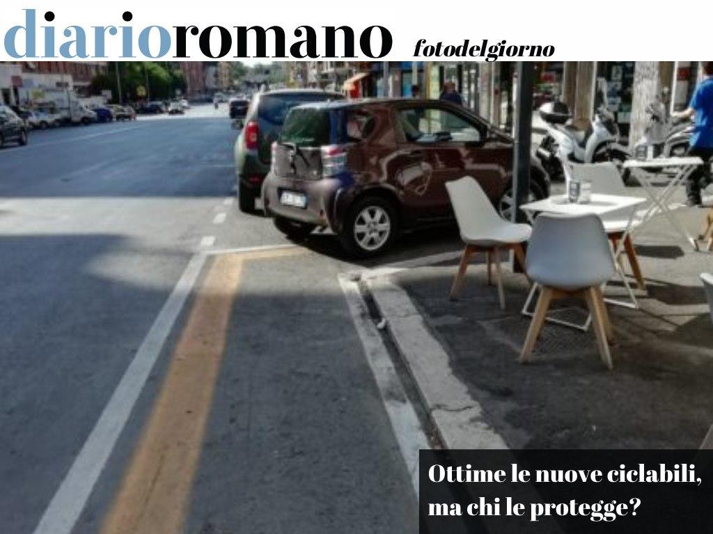 test Twitter Media - Continua ad essere troppo frequente vedere autoveicoli in sosta sulle #ciclabili. Possibile sia così difficile reprimere infrazioni così odiose? (foto @bikediablo via Twitter) . #Roma #foto #lettori 📸 https://t.co/2rcCjPcC8B