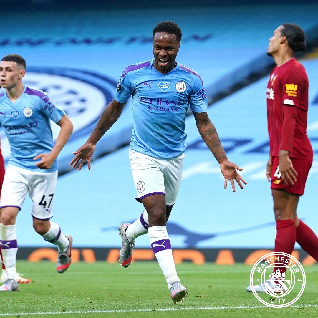 .@sterling7 💬 They [Liverpool] have been fantastic all year, they deserved to win the league. We haven't quite been up to the standard, but we put up a fight [on Thursday night] and we couldn't let them win easily.   🔵 #ManCity https://t.co/UomKttLofS