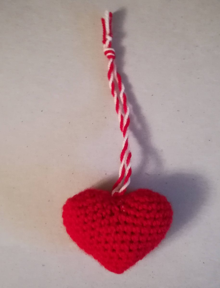 Knitted Toy Heart - Red, Handmade Knitted Heart, Toy Heart, Stuffed, Door Hanger, Valentines Day, Collectibles, Love, Toys, Games, Plushies Just for you #handmadelove #handmadetoy #doorlove